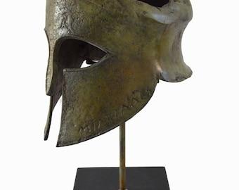 "Miltiades helmet bronze marble based from ""Battle of Marathon"""
