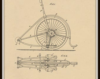 Driving Mechanism for Unicycles Patent #638963 dated December 12, 1899.
