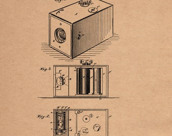 Eastman Camera Patent 388850 dated September 4, 1888.