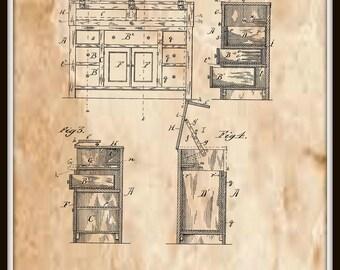 Kitchen Dresser Patent #326248 dated September 15, 1885.