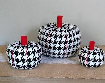 Fabric Pumpkin,Houndstooth Pumpkin,Houndstooth Fabric,Farm House Decor,Houndstooth,Fall Decor,Fall Decorations,Autumn Decor,Fall Centerpiece