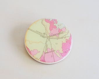 Handmade Resin Brooch | Contemporary Wearable Art | Geology Map
