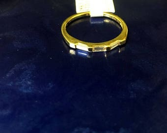 18k Yellow Gold Baguette Diamond Ring
