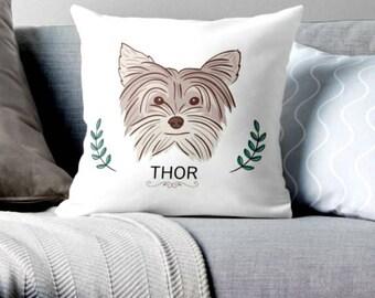 custom pillow, custom pet, custom dog pillow, custom dog art, custom art, custom decor, pet decor, pet pillow, dogs, animals pillow