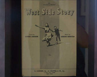 Framed Sheet Music From West Side Story