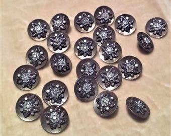 23 Cut Steel Buttons
