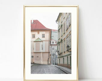 Prague // Pink Wall Art // Wall Prints // Large Wall Art // Pastel Travel Prints // Girly Photography // Pink Decor Art