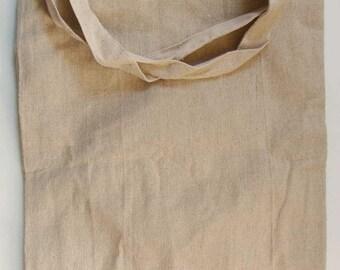 Sac besace en lin 63x32cm à personnaliser avec doublure et poche intérieure MOD1