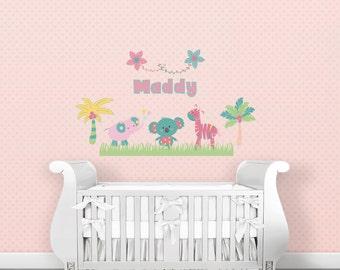 Amazing Custom Nursery Decal, Nursery Wall Decal, Jungle Baby Decal, Nursery Decal  Girl, Great Pictures