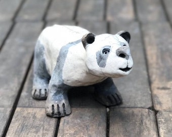 Ceramic raku Panda
