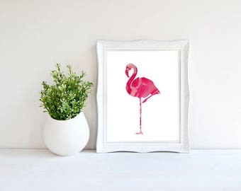Marble Flamingo, Flamingo Poster, Wall Art, Wall Decor, Home Decor, Flamingo Printable, Marble Poster, Flamingo Decor, Flamingo Art