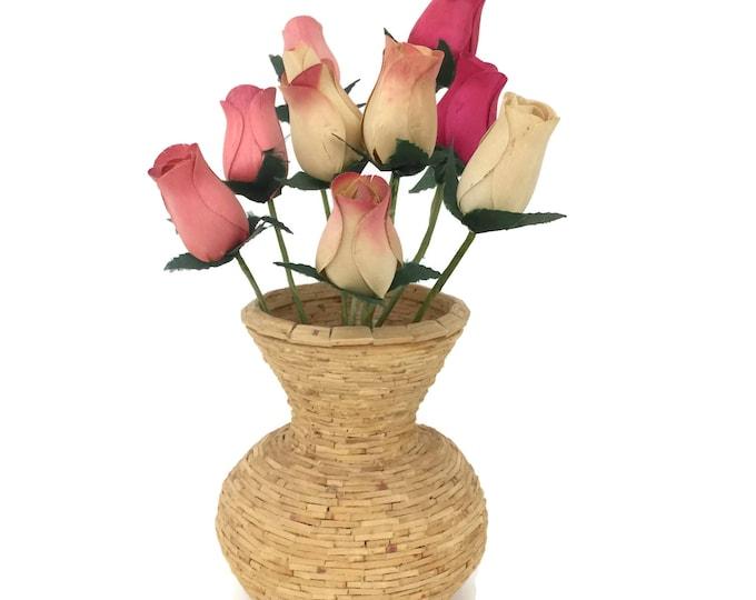 Balsa Wood Chip Vase
