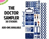 The Doctor Sampler Kit | Over 30+ Kiss-Cut Stickers | Planner Stickers | SP006
