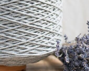 String Baumwollkordel grau / 3mm / Baumwolle Seil / Makramee Seil / Diy Makramee / Super weicher Baumwollseil / weben Seil / Makramee
