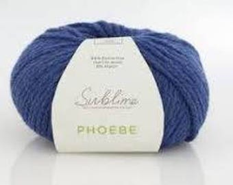 Pheobe by Sublime Bulky Super Soft Merino Wool.  Chainette construction