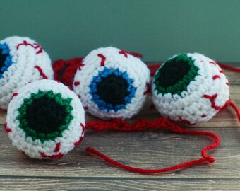 Zombie Eyeballs - Knit / Crochet - Cat Toys with Catnip