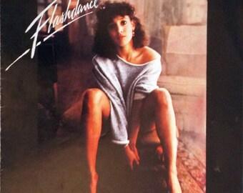 Flashdance Maniac vintage sheet music by Michael Sembello & Dennis Matkosky, Jennifer Beals cover photo 1983 with Guitar Tablature, Tri-fold