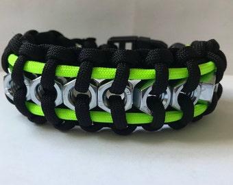 Custom Hex Nut Paracord Bracelet
