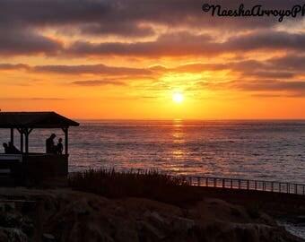 Canvas | Fine Art Photography | Print | Frame | Sunset Hut | 4x6 Print | LaJolla, San Diego, California | Sunset | Ocean | Sea | Cliffs