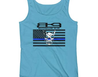 Rogue K9 Thin Blue Line Ladies' Tank * Multiple Colors available