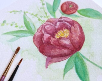 Custom Watercolor Illustration Request | Custom Wedding Art | Watercolor Painting | Watercolor Invitation | Design Reservation