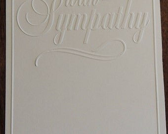 With Sympathy Embossed Cardstock, Embossed Sheets, Embossed Card Fronts
