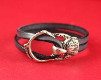 5/3 MADE in EUROPE zamak eagle oval hook clasp, silver hook clasp, bracelet zamak hook clasp (77920/10) qty1