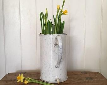 Vintage French Enamel Irrigator/Planter, French Enamelware,  Garden Planter, Quirky Planter, Home Decor