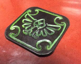 Zelda Leather Coaster