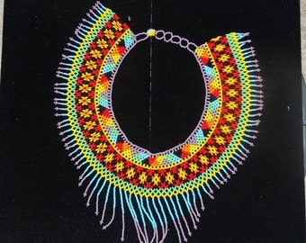 Chaquira Beaded Necklace / Collar de Chaquira