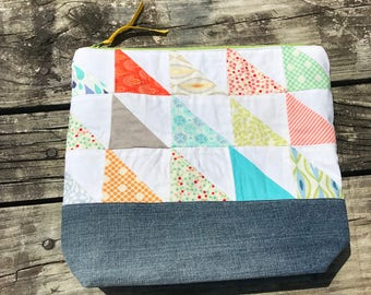 Bright Patchwork - Small Zipper Pouch