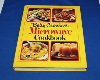Vintage Betty Crocker Microwave Cookbook General Mills Cook Book with Original Dust Jacket Desserts Recipes Cookery Recipe Dishes Meals
