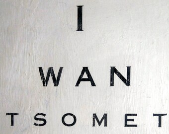 Upcycled vintage eye test wall art