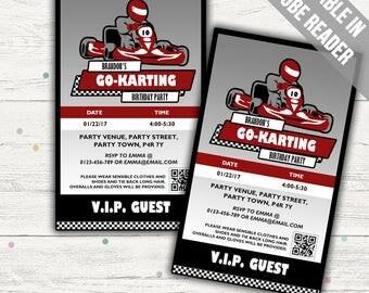 Go kart birthday | Etsy