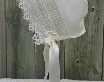 Baby Bonnet - Heirloom Style, sz 6-9 mo.