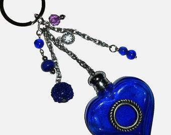 ღ ღ blue glass vial jewelry / unique Piece!