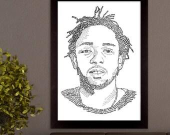 Kendrick Lamar Lyric Poster