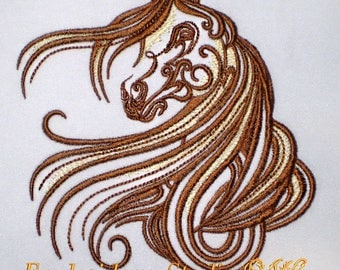 Machine embroidery design Horse_3 - horse embroidery - horse - horse stylized - embroidery horse