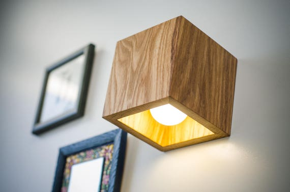 Wall lamp wooden q167 handmade wall light sconce wood like this item aloadofball Image collections