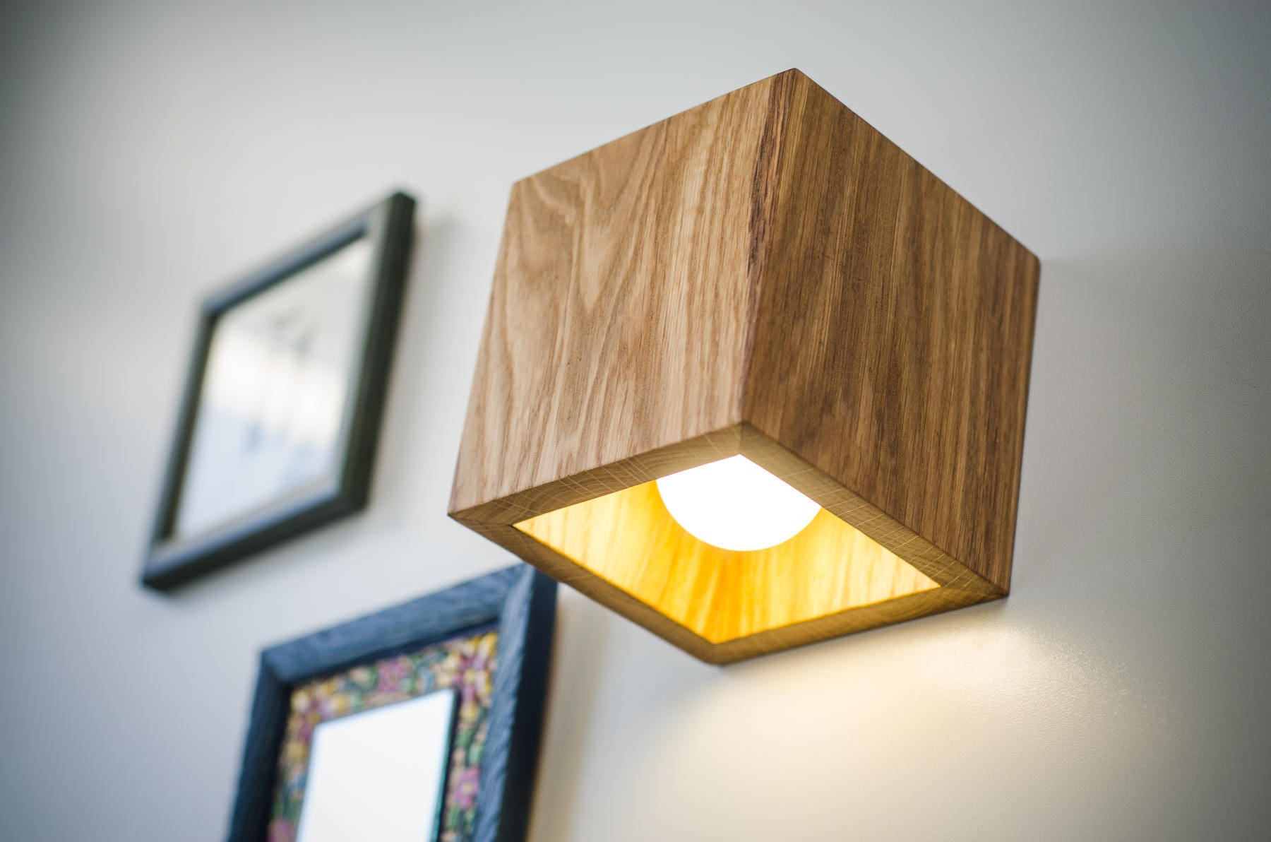wall lamp wooden Q#173 handmade. wall light. sconce. wood lamp.