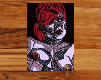 """Lauren"" Chubby Nude Art Print [Open Edition]"