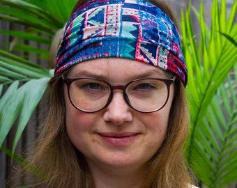 Wide Boho Headband, Tribal Headband, Hippie Head Band, Bohemian Headband, Colorful Headband, Women Headband, Extra Wide Headbands, Headbands