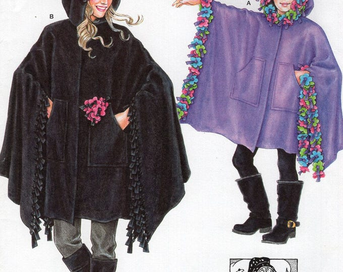 FREE US SHIP Sewing Pattern Simplicity 8018 Uncut New Patty Reed Designs Mother Daughter Matching Poncho Size 10/20 Miss 4/12 Girls ff