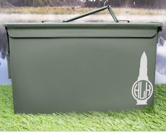 Ammo Can with Bullet Monogram