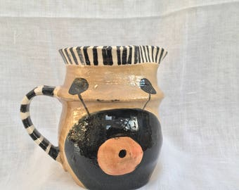 Handmade and decorated jug