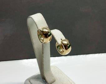 Earrings hoops gold 333 plain vintage OR122