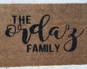 doormat last name door mat family name door mat front door