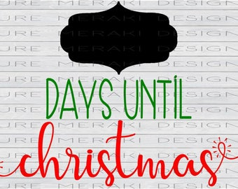 Days until christmas | Etsy
