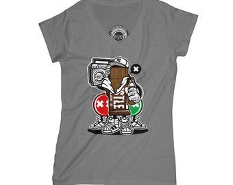 Hustle v neck shirt chocolate t-shirt funny t-shirt gangster shirt old school t-shirt hipster t-shirt music t-shirt APV50