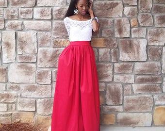 """Satin Taffeta Maxi Ball Skirt """"Ceola Too"""" (XS - 6XL) Several COLORS, Any Length, Any Size (Non-Poofy)"""